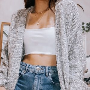 abercrombie & fitch oversized knit cardigan